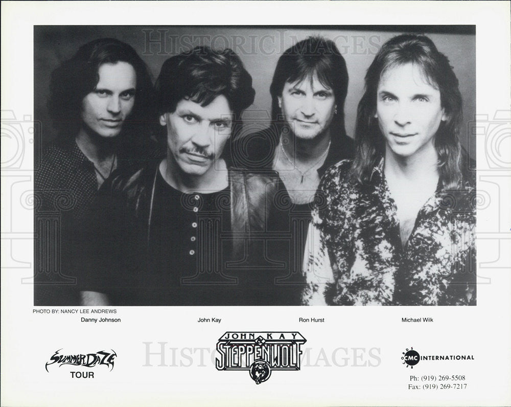 Press Photo Danny Johnson John Kay Ron Hurst Michael Wilk Steppenwolf Musical - Historic Images