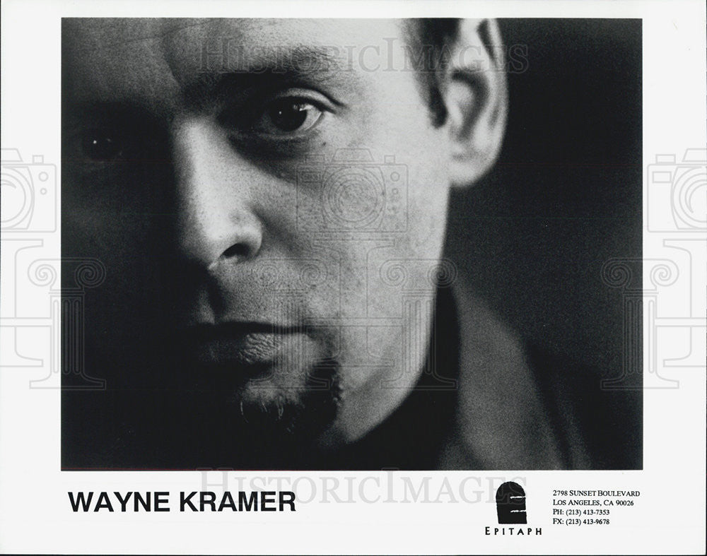 1995 Press Photo Wayne Kramer Musician - Historic Images