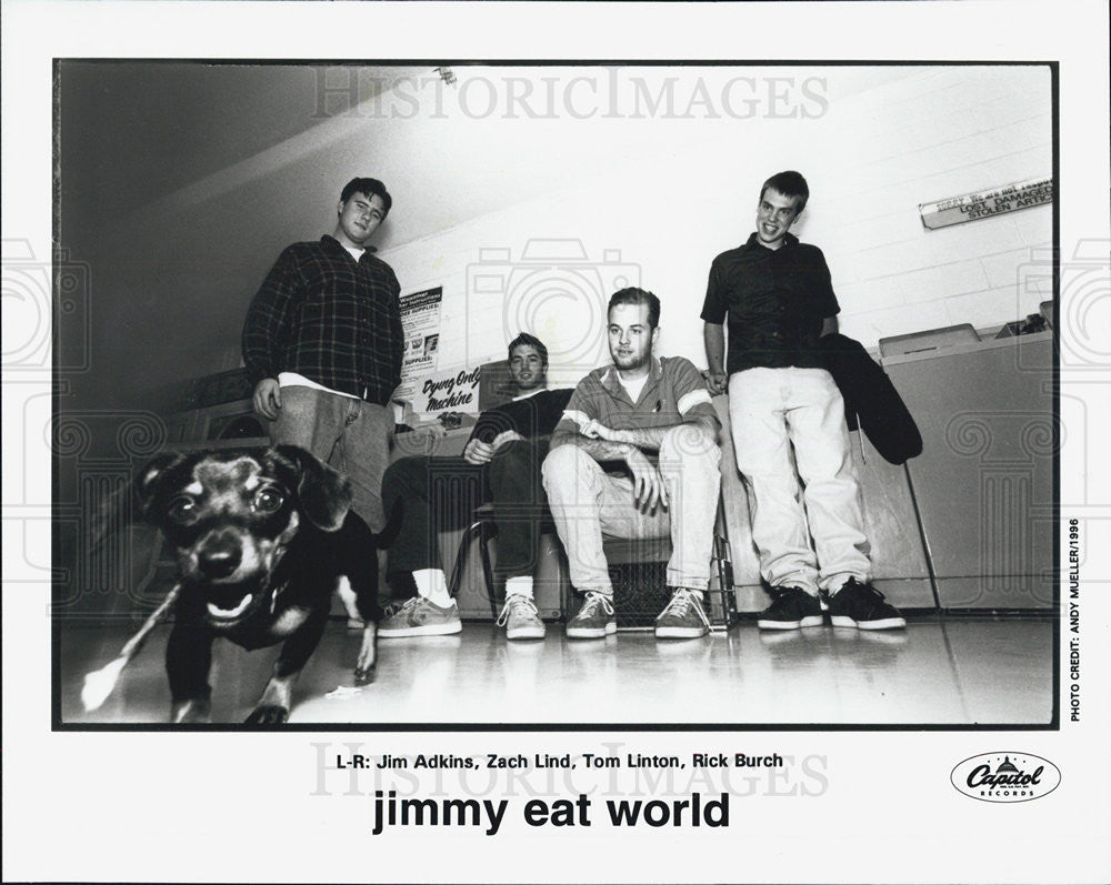 1996 Press Photo Jim Adkins Zach Lind Tom Linton Rick Burch Jimmy Eat World - Historic Images