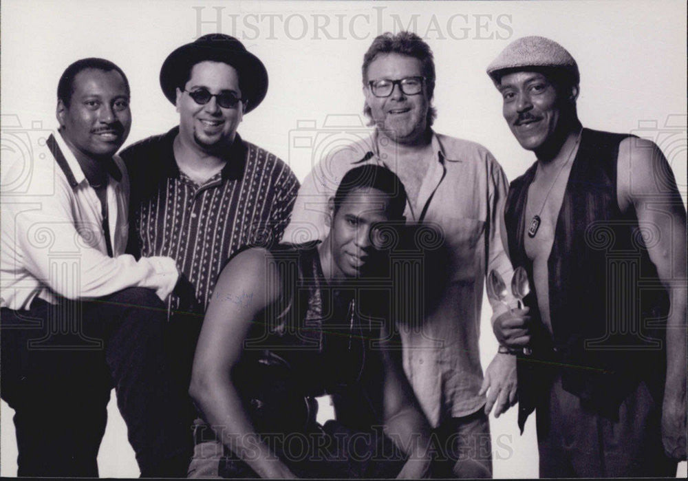 Press Photo Lorenzo Spoons Brown Darryl Pierce Mark Pasman And Paul Randolph - Historic Images