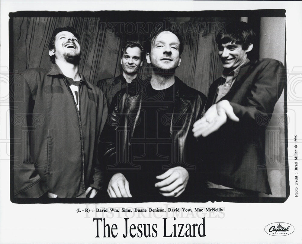 1996 Press Photo David William Sims Duane Denison Yow Mac McNeilly Jesus Lizard - Historic Images
