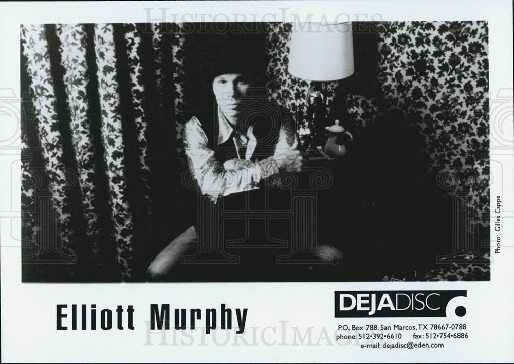 Press Photo Elliot Murphy Musician - Historic Images