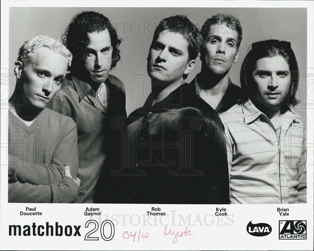 Press Photo Matchbox 20 - Historic Images