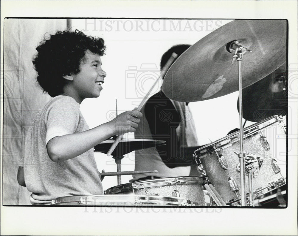 1984 Press Photo Kalil Muhammed Drummer Detroit - Historic Images