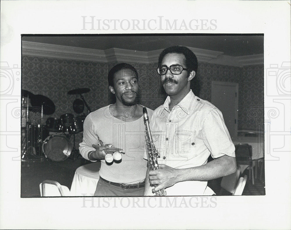 Press Photo Musicians Wallace McMillan and Dushun Mosley - Historic Images