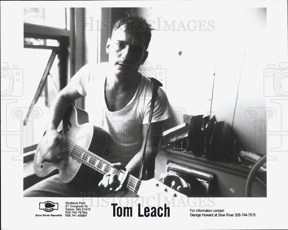 Press Photo Tom Leach Musician - Historic Images