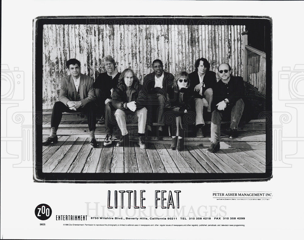 1996 Press Photo Little Feat Band - Historic Images