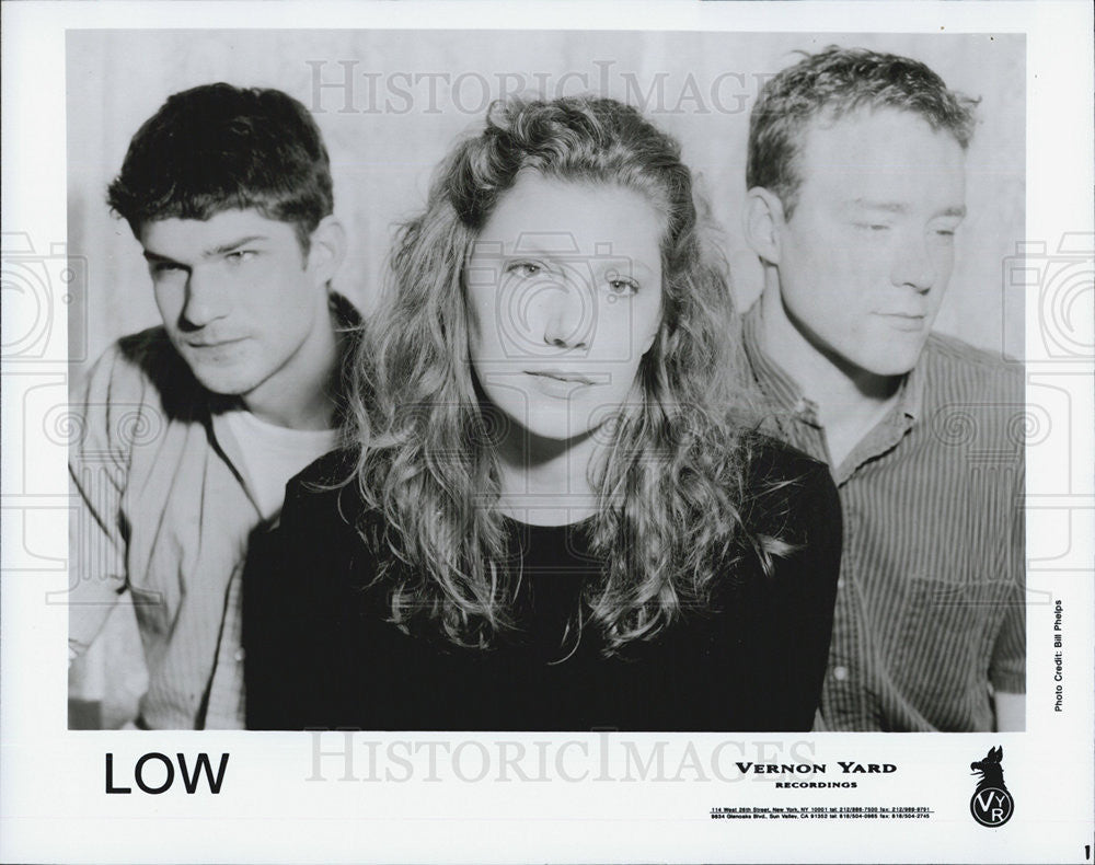 NONE Press Photo Band Low Vernon Yard Recordings - Historic Images