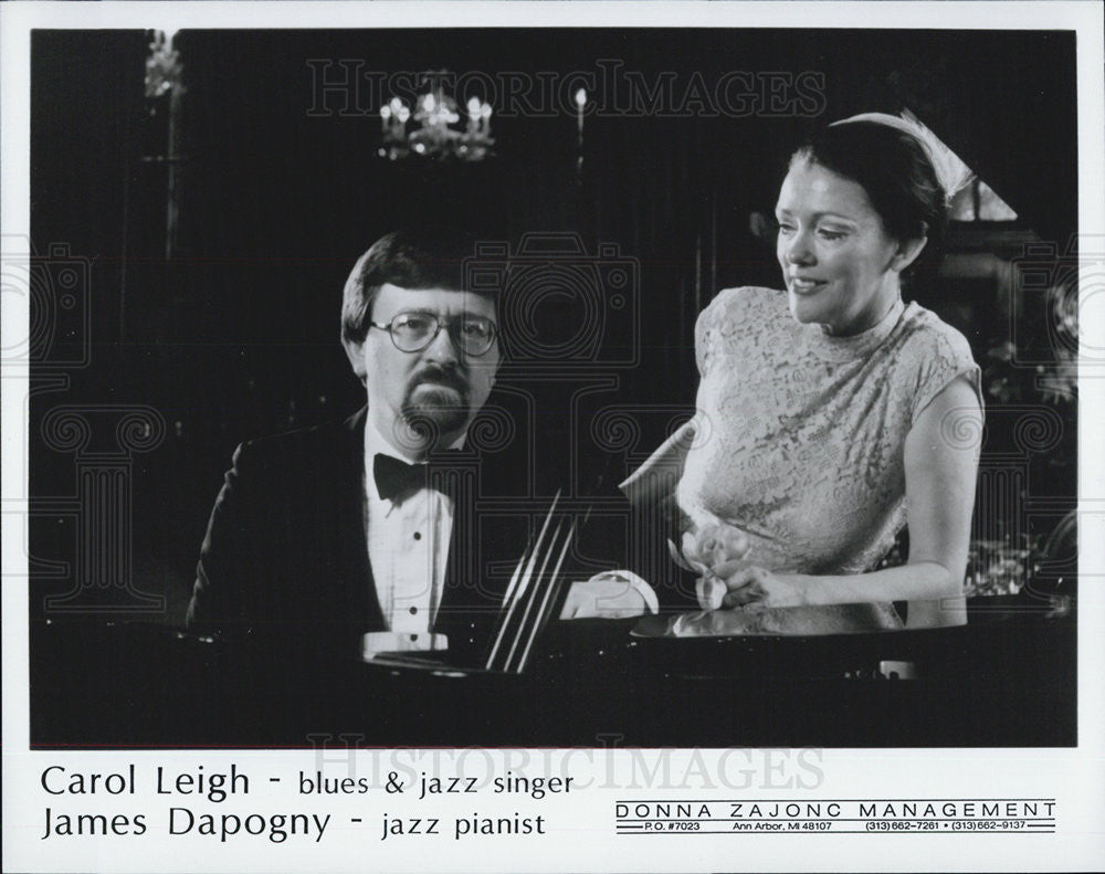 Press Photo Carol Leigh James Dapogny Jazz and blues singer and pianist - Historic Images