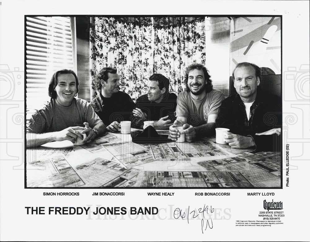 1995 Press Photo The Freddy Jones Band simon Horrocks Jim Bonaccorsi Wayne - Historic Images