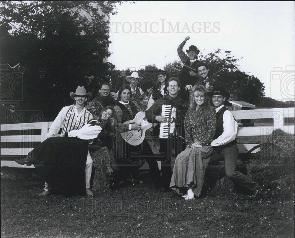Press Photo Ropin' The West Musical Group - Historic Images