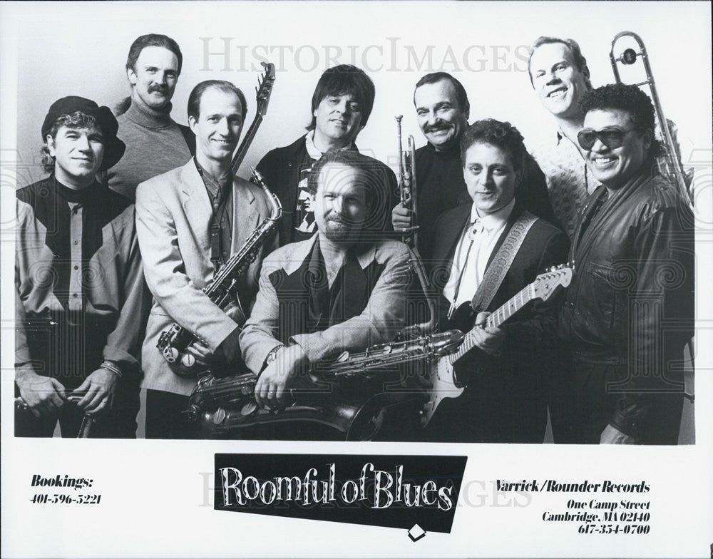Press Photo Roomful Of Blues Musical Group - Historic Images