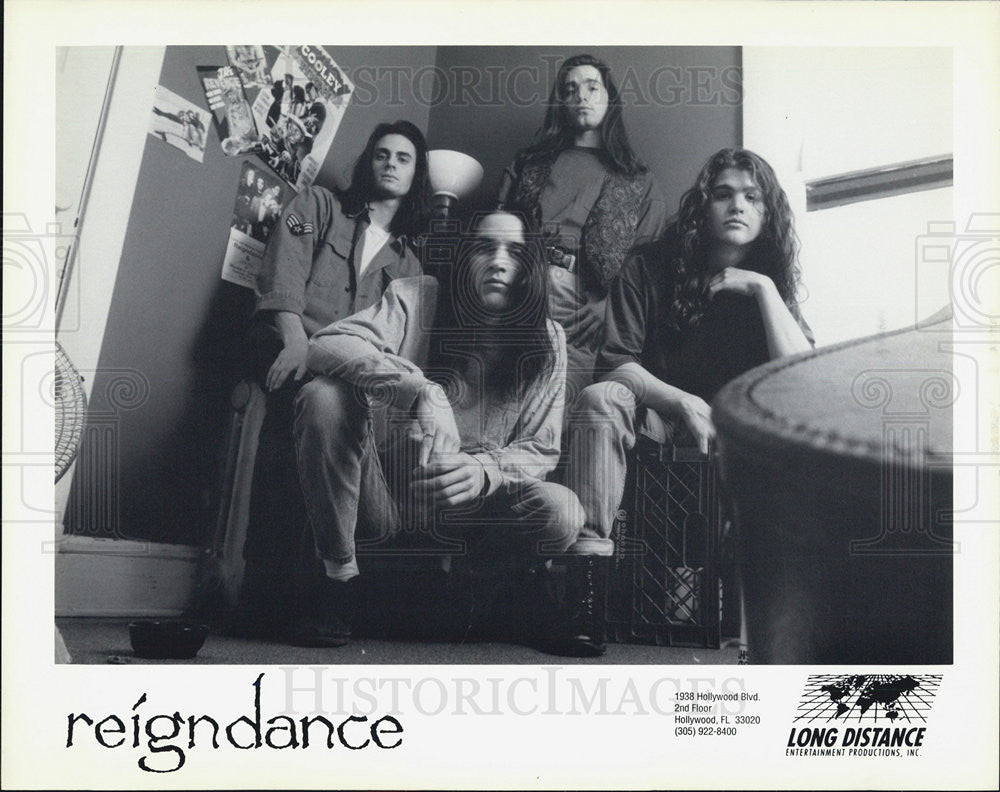 Press Photo Reigndance Musicians recording Artist band - Historic Images