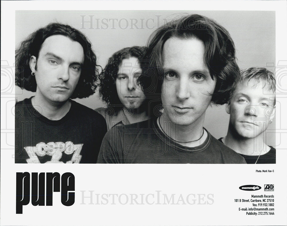 Press Photo Pure Canadian Rock Band Jordy Birch Todd Simko Leigh Grant - Historic Images