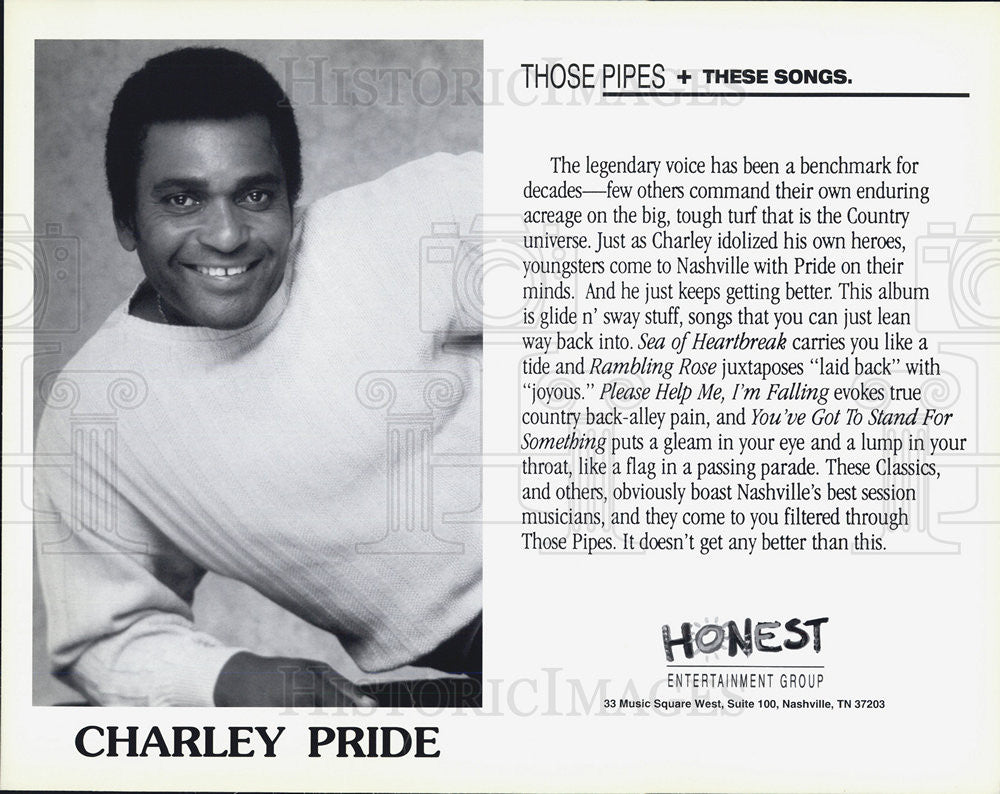 Press Photo Charley Pride Singer - Historic Images