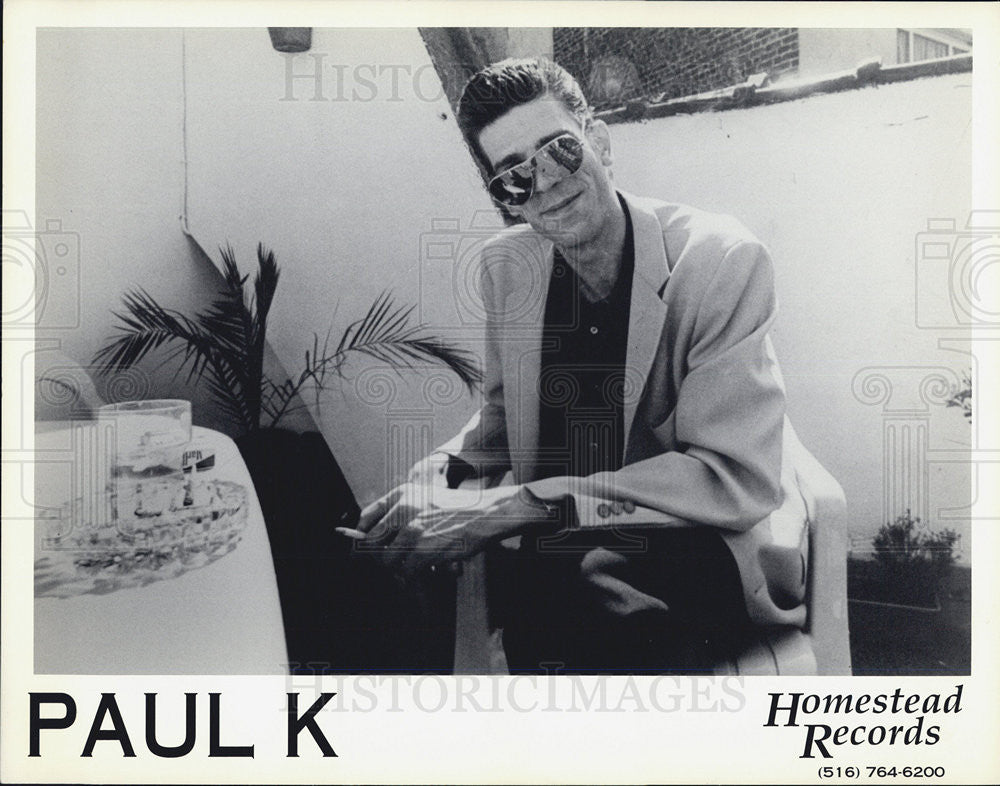 Press Photo Paul K Musician - Historic Images