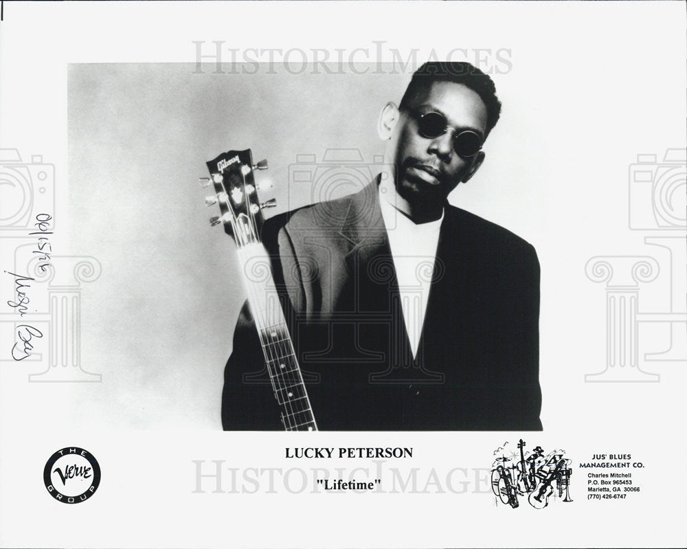 1986 Press Photo Lucky Peterson Musician - Historic Images