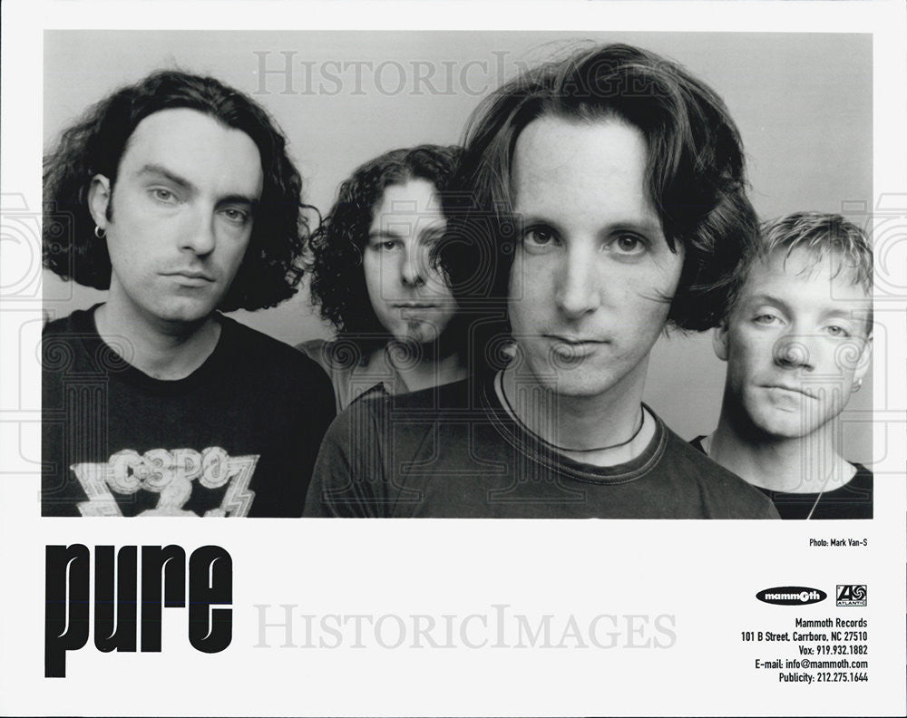 Press Photo Pure Canadian Rock Band Jody Birch Todd Simko Leigh Grant Jim Hobbs - Historic Images