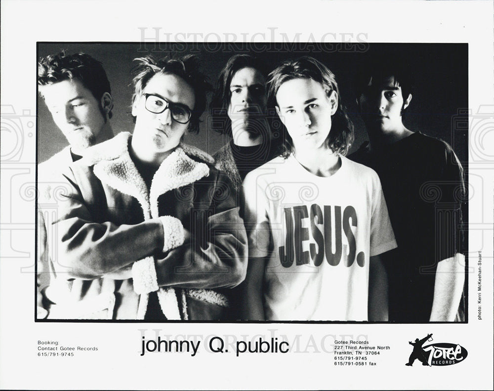 Press Photo Johnny Q. Public Christian Alternative Rock Band - Historic Images