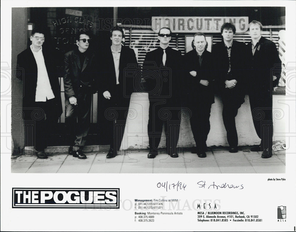 1994 Press Photo The Pogues Musicians Entertainers band recording Artists - Historic Images