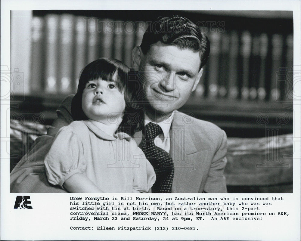Press Photo Drew Forsythe Actor Whose Baby Controversial Drama Movie Film - Historic Images