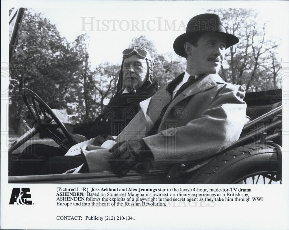 Press Photo Joss Ackland Alex Jennings Ashenden TV Movie Actor - Historic Images