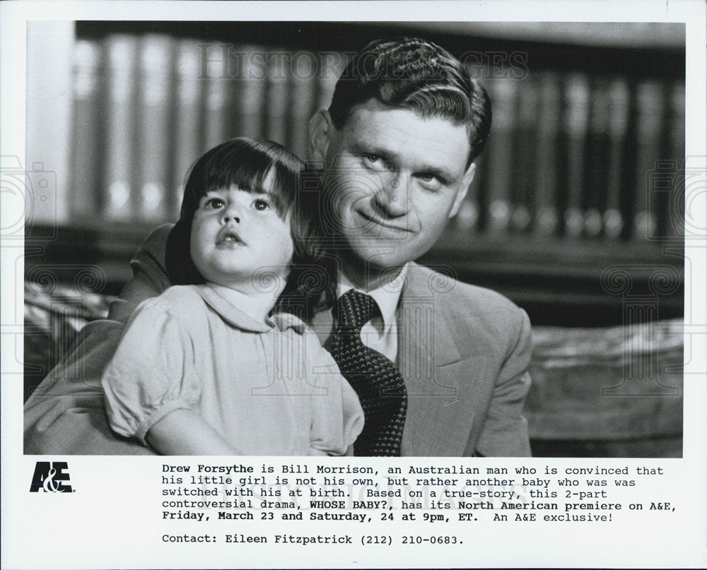 Press Photo Drew Forsythe Actor Whose Baby True-Story Drama Film Movie - Historic Images