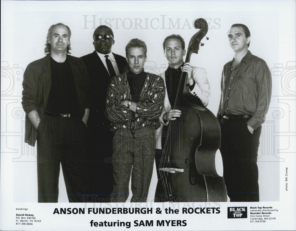 1991 Press Photo Anson Funderburgh & the Rockets - Historic Images