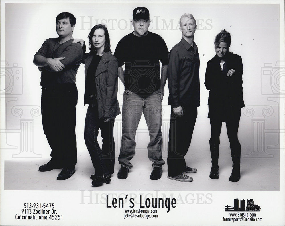 Press Photo Len's Lounge Musician Entertainer Band Third Silo Records - Historic Images
