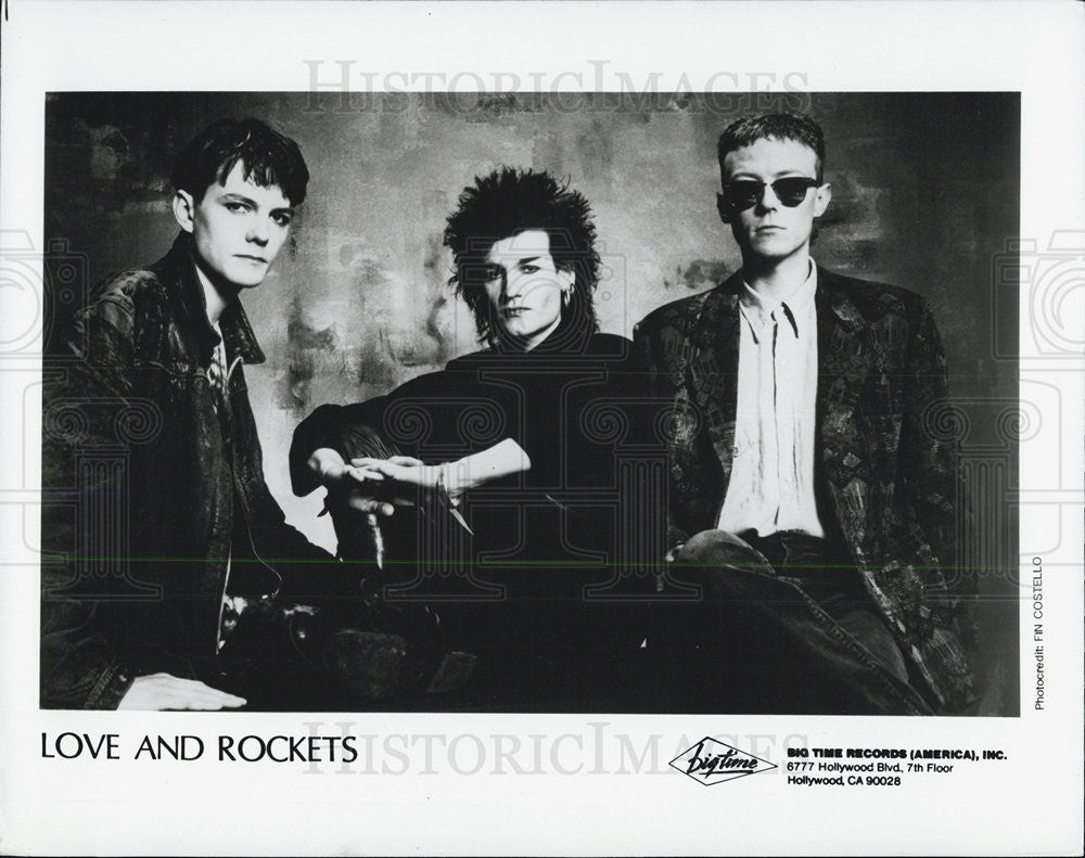 1988 Press Photo Love & Rockets - Historic Images