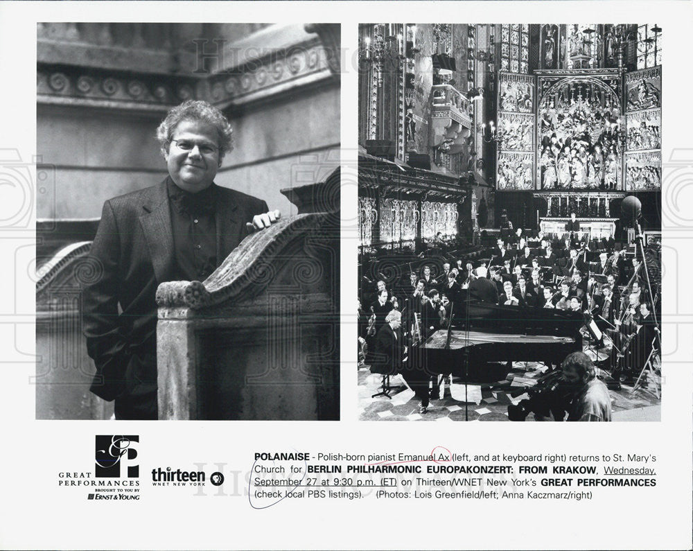 2000 Press Photo Emanuel Ax Polanaise Pianist Polish Musician - Historic Images