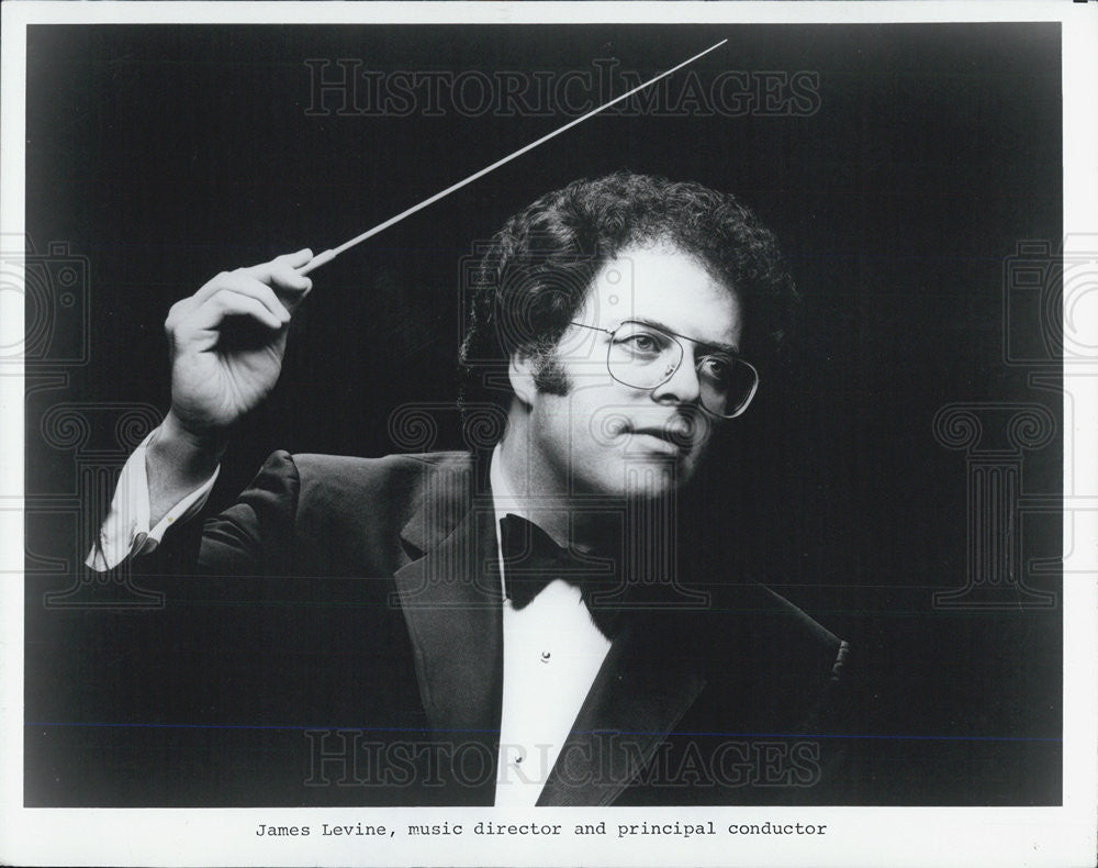 1995 Press Photo James Levine Music Director Orchestra Conductor - Historic Images