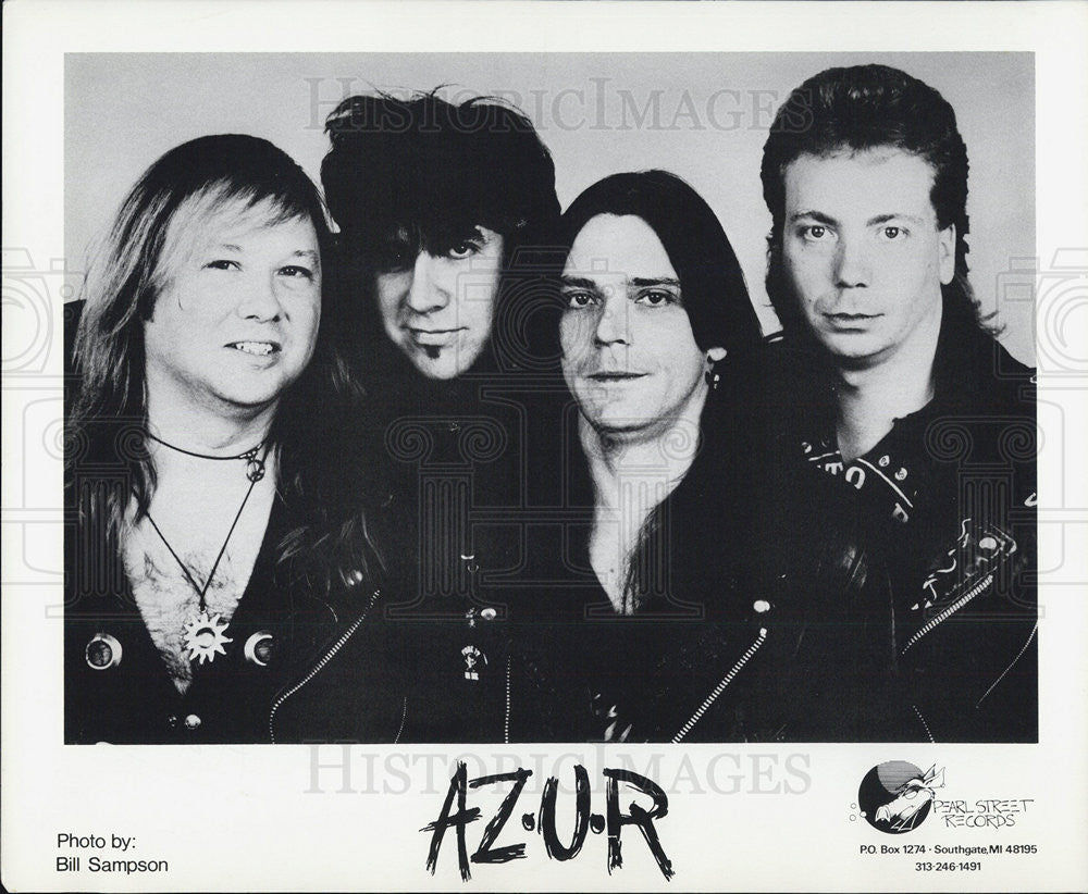 1996 Press Photo AZUR Metal Musician Band Group - Historic Images