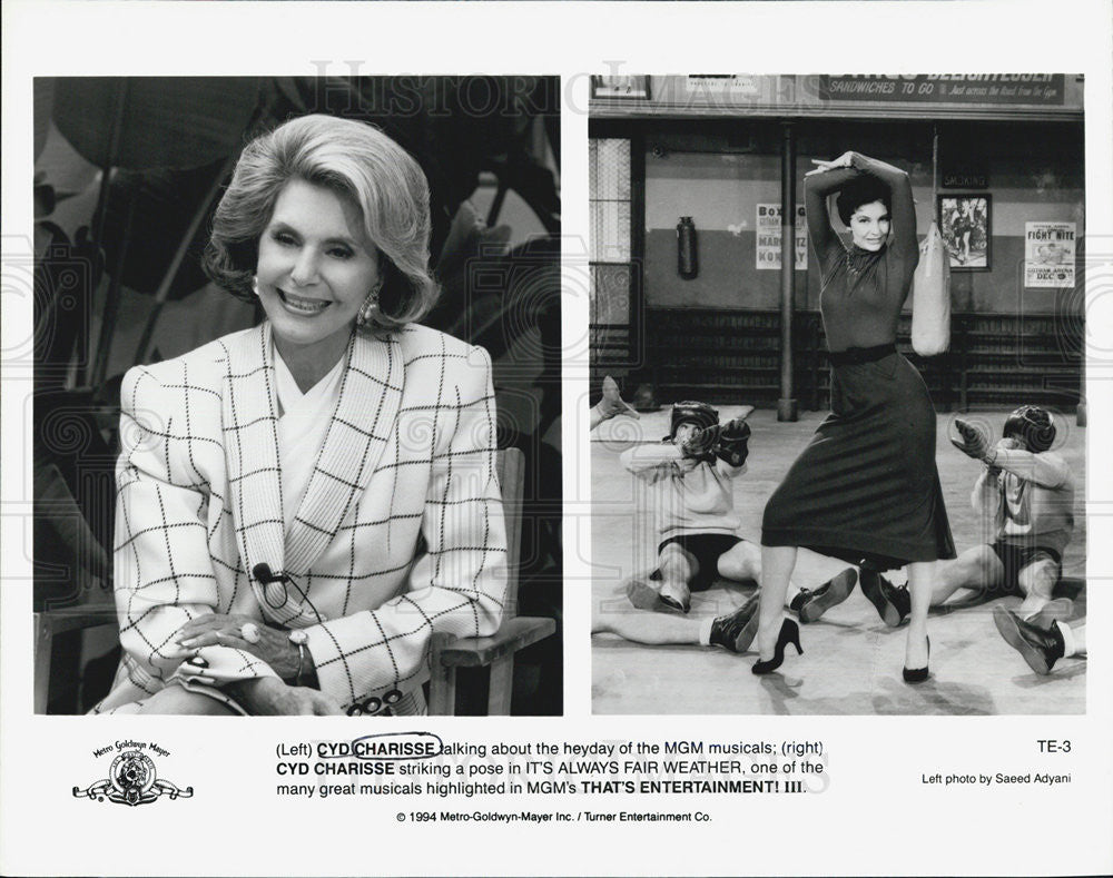 1994 Press Photo Cyd Charisse It's Always Fair Weather Musical Actress - Historic Images
