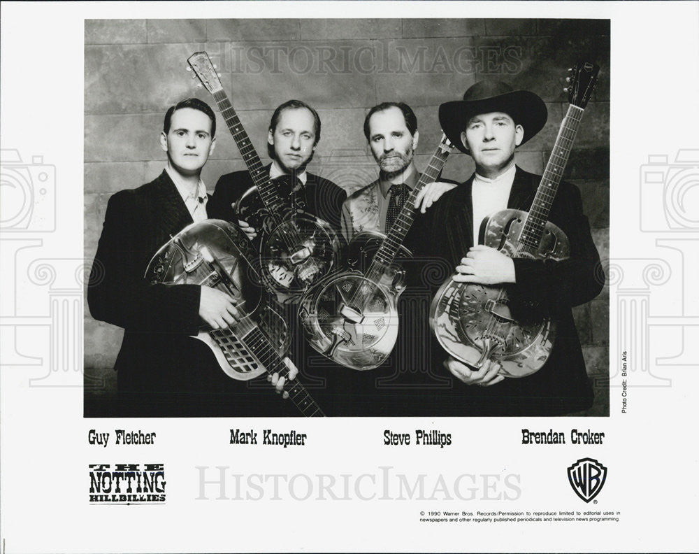 1990 Press Photo Guy Fletcher Mark Knopfler The Notting Hillbillies Musicians - Historic Images