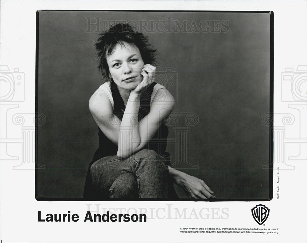 1995 Press Photo Laurie Anderson Musician Entertainer Songwriter - Historic Images