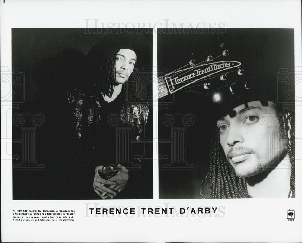 1990 Press Photo Cbs Records present Terence Trent D'Arby - Historic Images