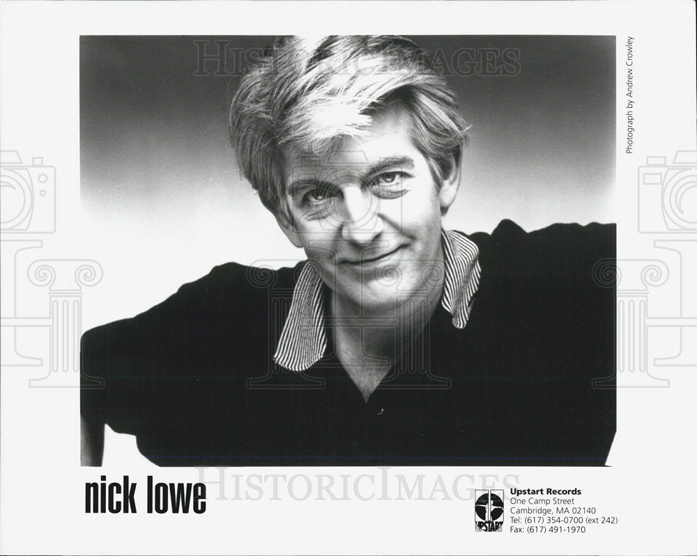 Press Photo Upstart Records Present Nick Lowe - Historic Images