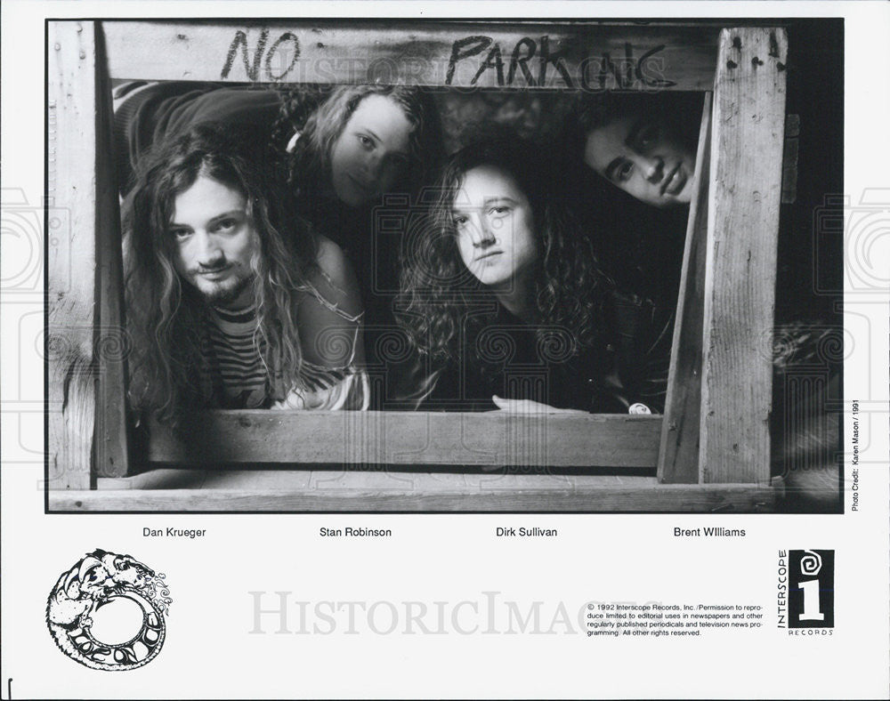 1993 Press Photo Interscope Records Present Love on Ice Band Dan Stan Dirk Brent - Historic Images