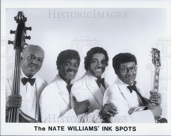 1988 Press Photo The Nate Williams' Ink Spots,music group - Historic Images