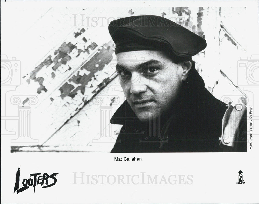 1988 Press Photo Mat Callahan,Looters,entertainer - Historic Images