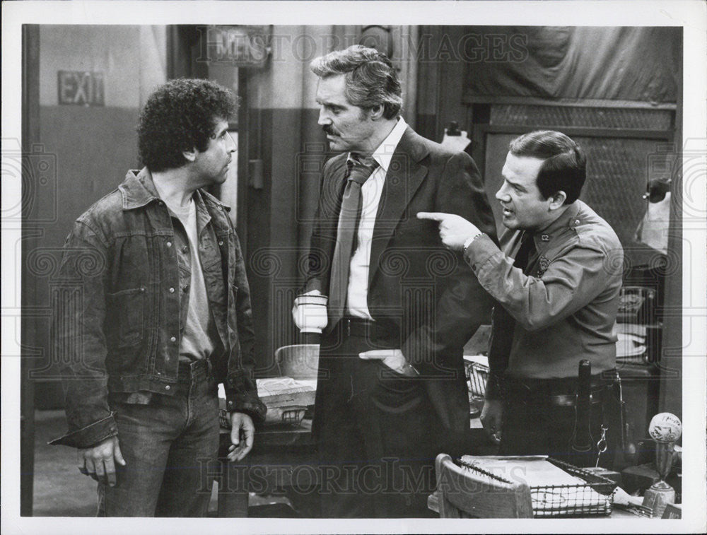 Press Photo Ron Carey Michael Tucci Hal Linden On ABC Television Barney Miller - Historic Images