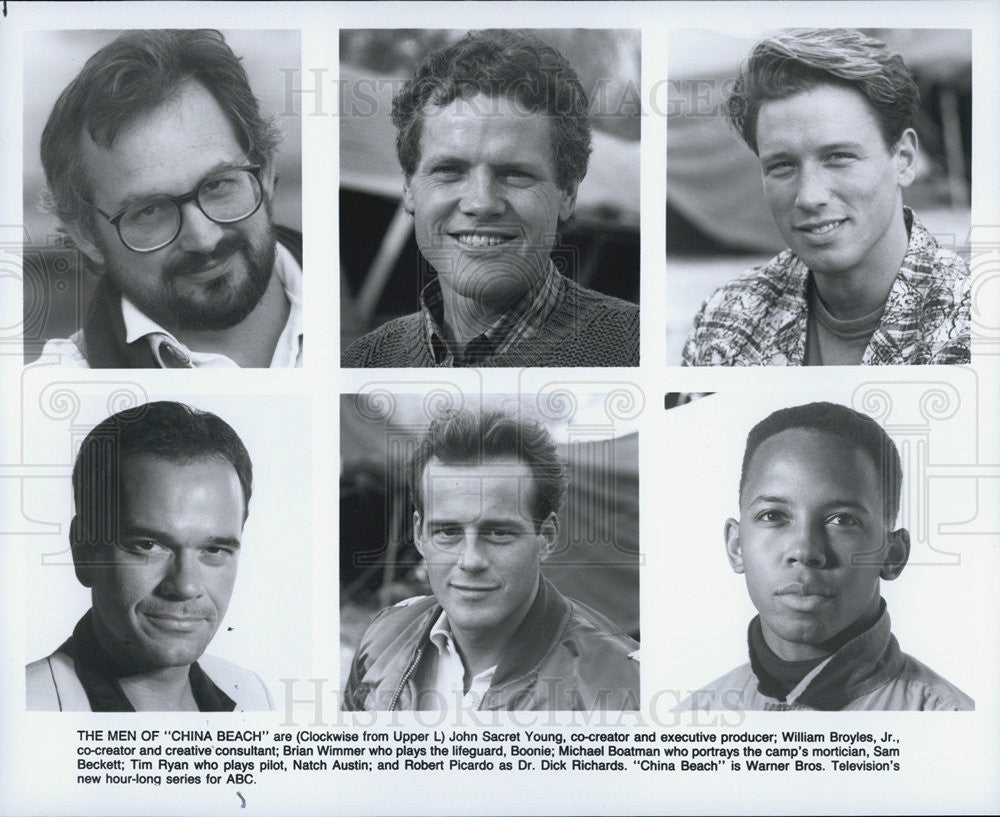 Press Photo Actors Brian Wimmer Michael Boatman Tim Ryan Robert And Picardo - Historic Images