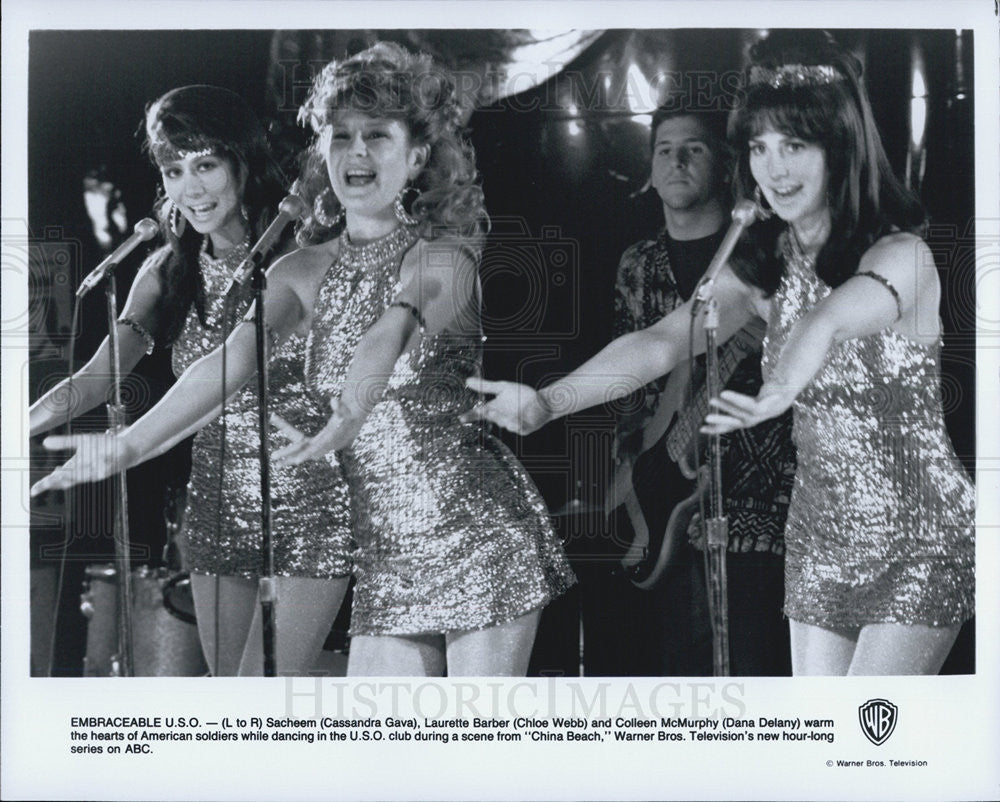Press Photo Cassandra Gava Chloe Webb Dana Delany ABC TV Series China Beach - Historic Images