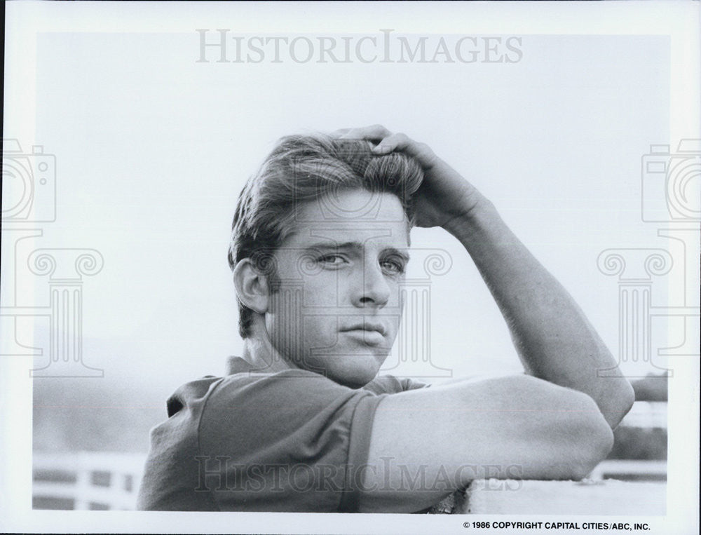 1986 Press Photo Maxwell Caulfield Actor Colbys Drama Television Series - Historic Images