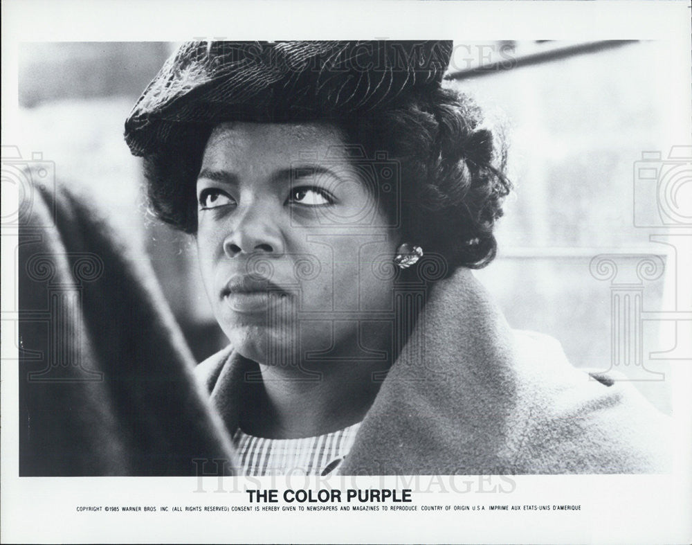 1985 Press Photo Oprah Winfrey Stars In Warner Bros. Movie The Color Purple - Historic Images