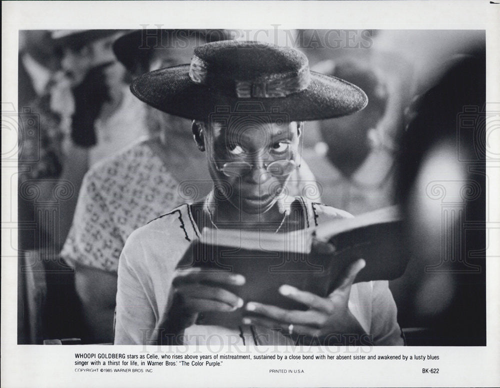 1985 Press Photo Actress Whoopi Goldberg In Warner Bros. Movie The Color Purple - Historic Images