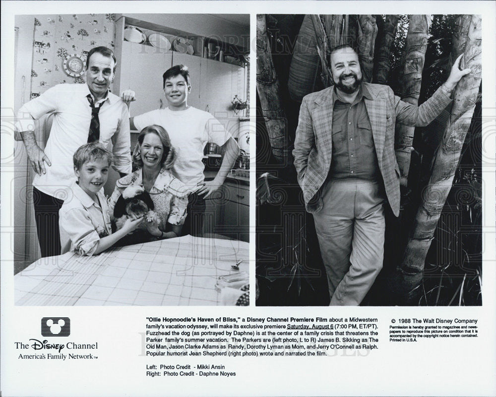 1988 Press Photo Ollie Hopnoodle's Haven Of Bliss Actors Sikking Adams Lyman - Historic Images