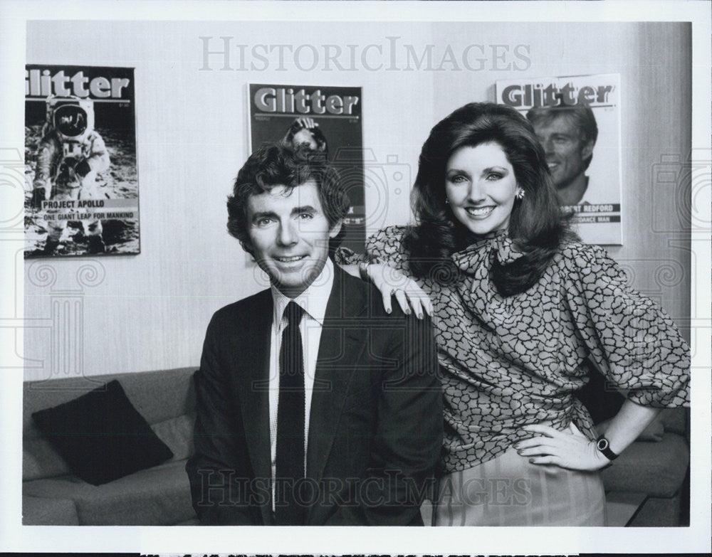 1984 Press Photo David Birney Actor Morgan Brittany Actress Glitter TV Series - Historic Images
