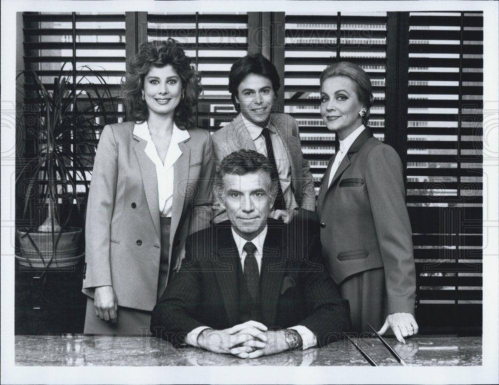 Press Photo Actors Tony Franciosa Deborah Adair Richard Kantor Anne Jeffreys - Historic Images